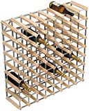 RTA 72-Bottle Ready-to-Assemble Wine Rack - Natural Pine / Galvanised Steel