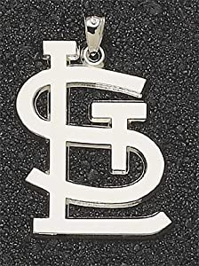 St. Louis Cardinals Giant 1 1 4 W x 1 3 4 H STL Pendant - 14KT Gold Jewelry by Logo Art