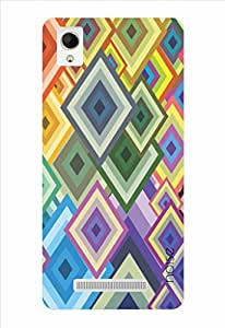 Noise Colorful Diamonds 1 Printed Cover for Intex Aqua Power Plus