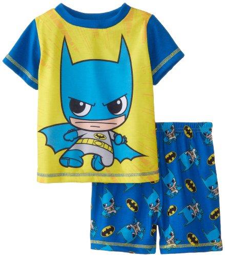 Sgi Apparel Little Boys' Batman Funco Style 2 Piece Poly Short Pajama, Blue, 2T front-29974