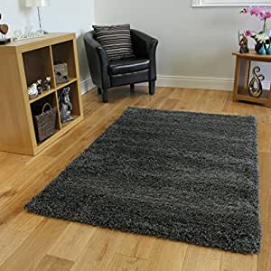 "SUPER SOFT LUXURY GREY SHAGGY RUG 5 SIZES AVAILABLE 60cmx110cm (2ft x 3ft7"")"