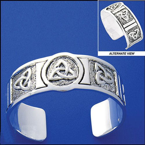 Pewter Trinity Knot Cuff Bracelet - For Men & Women, Exceptional!