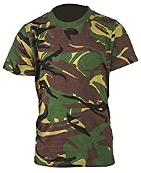 Kids Camouflage Cap, T-Shirt and Dog-Tag Gift Set Military Childrens (Set 8) from Mixed