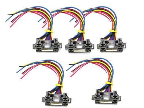 Absolute Usa 12 Vdc Dual Relay Interlocking Socket, 5 Set