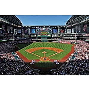 Mlb wall mural mlb stadium arizona for Baseball field wall mural