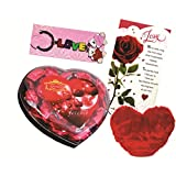 Skylofts Cute Chocolate Valentine's Heart With A Heart Soft Toy, A Love Card & A Love Key Ring