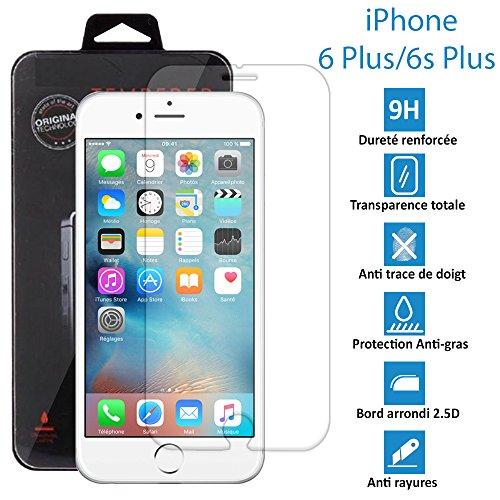 Apple iPhone 6 Plus et 6s Plus - Véritable vitre en verre trempé ultra résistante - Protection écran - AVEC BOITE