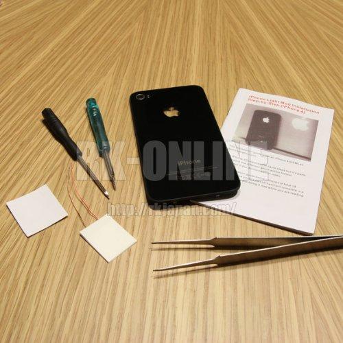 iPhone4 バックパネル イルミネーションタイプ ブラック アウトレット