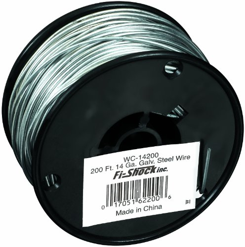 Fi-Shock WC-14200 200-Feet, 14 Gauge Spool Galvanized Steel Wire