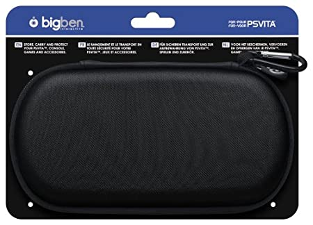 Bigben Fabric Pouch for PlayStation Vita (Black)