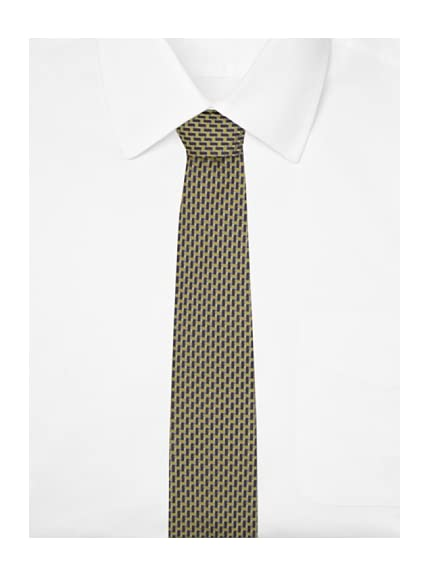 Yves Saint Laurent Men's Woven Tie, Yellow