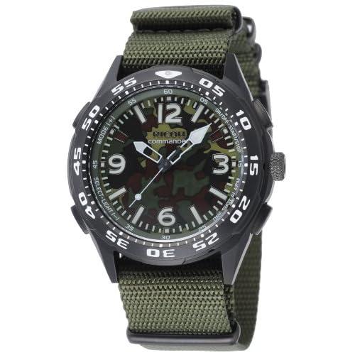 [リコー]RICOH 腕時計 コマンダー・リマインダー 電磁誘導充電式 アナログ表示 バイブレーションアラーム機能 替えベルト付き 迷彩カラー 660102-91 メンズ