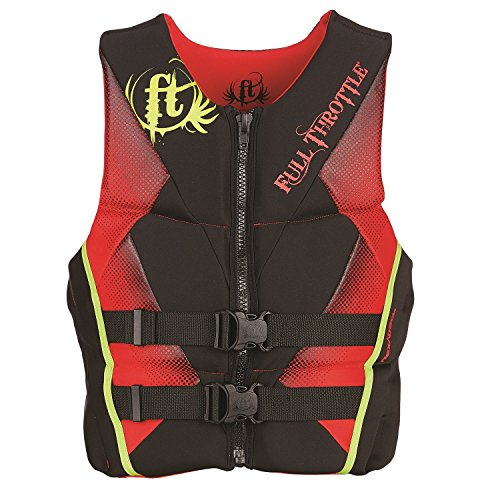 Full Throttle Men's Hinged Rapid-Dry Flex-Back Life Vest, X-Large, Red