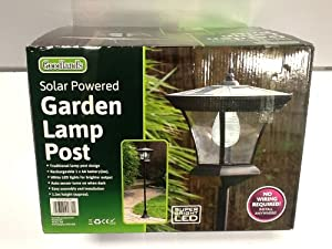 solar powered garden lamp post garden