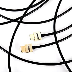 Duronic HDC02 /1.5 High Speed 1.5 Metre HDMI Cable - 1.5M HDMI to HDMI slimline cable