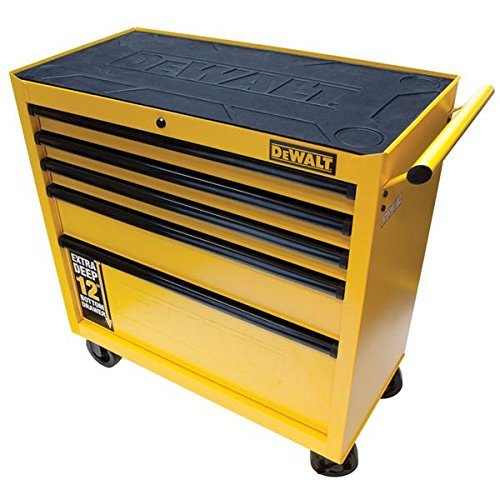 36-5-Drawer-Roller-Cabinet-Heavy-Duty-Drawer-Slides-5-X-2-Casters-Auto-Return-Drawers-Black-Yellow-by-36-5-Drawer-Roller-Cabinet