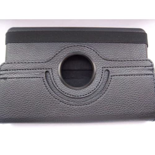 Kindle Fire Leather Case Cover(black) 360° Rotating for  Kindle Fire Tablet