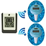 Ambient Weather WS-14-X2 Wireless 8-Channel Floating Pool and Spa Thermometer with Two Remote Sensors