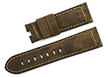 buy Istrap 24Mm Italy Vintage Assolutamente Calf Leather Watch Band Deployment Style Asso Military Strap