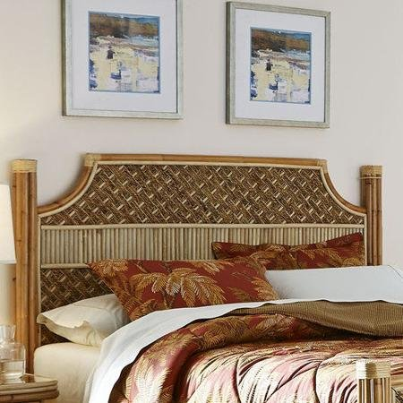 Mandalay Natural Wicker Rattan Queen Headboard Bedroom Furniture Set from Spice Islands - FREE SHIPPING