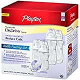 Playtex Baby Drop-Ins Nursers With Liners Bottle Feeding Gift Set, Reduces Colic, New!!!