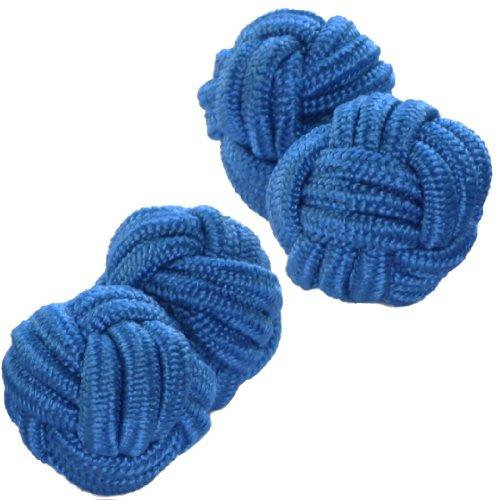 Blue-Shade-Silk-Knot-Cufflinks-Cuffs-Co