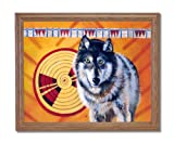 Native American Indian Tribal And Wolf # 1 Home Decor Wall Picture Oak Framed Art Print