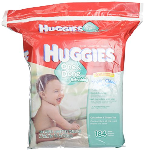 Huggies One & Done Refreshing Baby Wipes Refill, 184 ct - 1