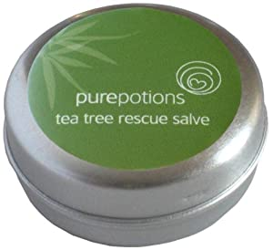 Pure Potions Tea Tree Rescue Salve - Suitable For Use on Cold Sores, Spots, Bites, Fungal Condition 15ml