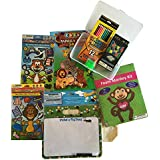 Animal Fun Activity Bundle: Dry Erase Activity Board, Magnetic Dress Up Sets, Craft, Coloring Book, Snakes & Ladders...