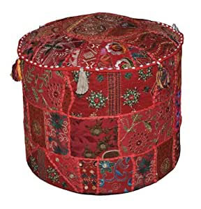Buy Indian Vintage Pouf Stool Embroidery Amp Patchwork