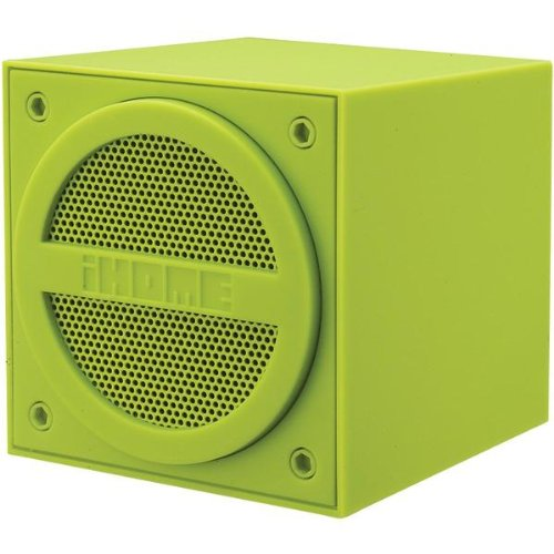 Ihome Ibt16Qc Ihome Ibt16Qc Rubberized Bluetooth(R) Wireless Mini Speaker Cube With Rechargeable Battery (Green)