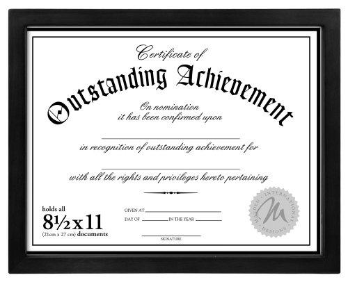 custom diploma frames malden designs wooden document frame holds 85 by 11inch certificate black - Document Frames