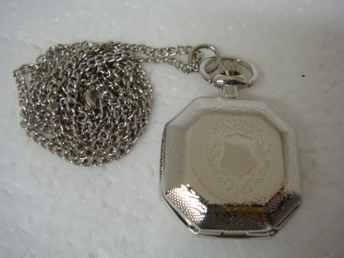 Hexagon Shape Quartz Watch Pendent with Cover- 92072