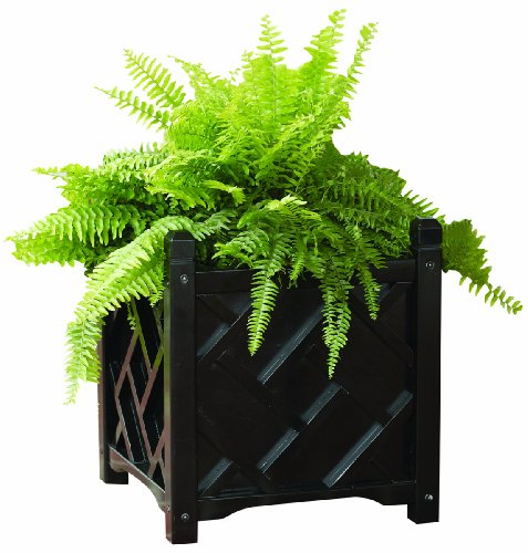 DMC Products Chippendale 18-Inch Square Solid Wood Planter, Hunter Green