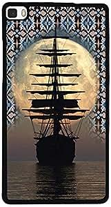 PrintVisa D8115 Travel Ship Sunset Back Cover for Huawei P8 (2D-HP8-D8115)