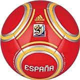 Spain 2010 Capitano Soccer Ball, Poppy/Poppy/Metallic Silver, 3