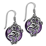 Warrior Dragon Earrings in Sterling Silver