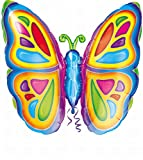 """Anagram International Bright Butterfly Foil Pack, 25"""", NA"""