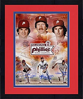 "Framed Pete Rose, Steve Carlton and Mike Schmidt Philadelphia Phillies 1980 World Series Autographed 16"" x 20"" Collage with 3 Inscriptions - Fanatics Authentic Certified"