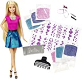 Mattel - Barbie, muñeca mechas purpurina, 30 cm (CLG18-0)