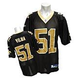 (リーボック)Reebok NFL セインツ #51 ジョナサン・ビルマ Equipment Replica ユニフォーム (ブラック)