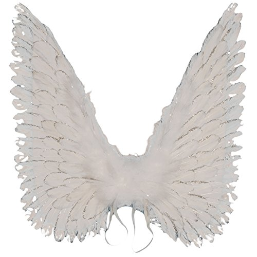 Loftus Halloween Costume Accessory Large Angel Wigns White One Size