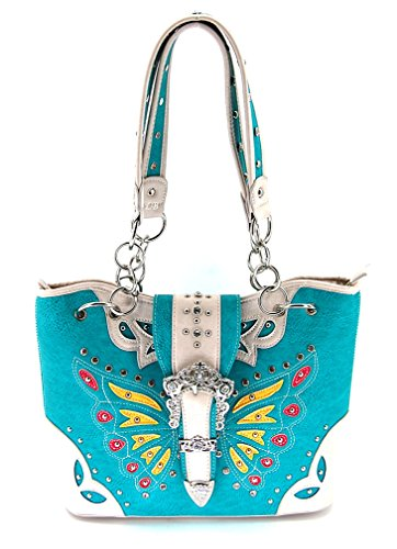 Western Medium/Large Purse, Butterfly Bag, Turquoise, NEW 2015