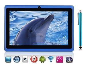 Allwinner - Tablette Android 4.0.3 Écran Tactile 7 Pouces A13 1.0Ghz Cpu (Jusqu'À 1.5Ghz Max). Dernière Version De L'Os Ice Cream Sandwich. Tablette Pc 4Gb Hdd 512Mb Wifi Mid Epad Flash Player 11.1 - Compatible Avec Bbc Iplayer / Youtube / Facebook (Bleu) De Dx-Mall