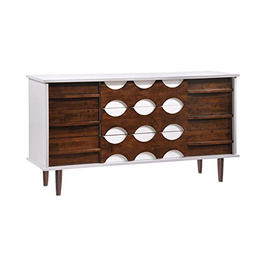 Zuo Home Seattle Double Dresser Walnut & White