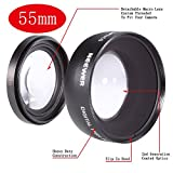 NEEWER® Digital 55mm Macro Wide Angle Lens 0.45X High Definition For Sony DSLR A230 A350 A300 A330 A500 A700 A900...