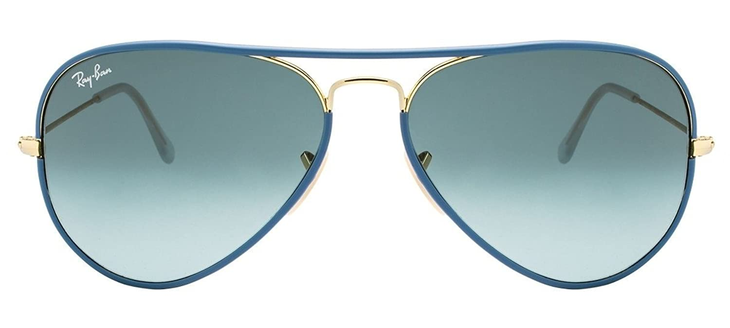 RAY BAN RB3025JM 001/4M AVIATOR TM LARGE METAL BLUE FRAME/BLUE GRADIENT LENS - 58 mm ** Sunglasses ** солнцезащитные очки ray ban rayban rb3025jm 001 002 146 32