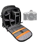 DURAGADGET Housse Appareil Photo Numérique SLR Résistant aux Intempéries pour la gamme Nikon D - noir et gris