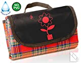 Waterproof Picnic Blanket - PLAN FOR 2015 SUMMER PICNICS NOW WITH OUR SPECIAL OFFER PRICE. The best outdoor blanket with waterproof backing. Made for travel. Compact, fold up 'Take Anywhere' size. Best for use at the beach, camping, concerts, festivals an